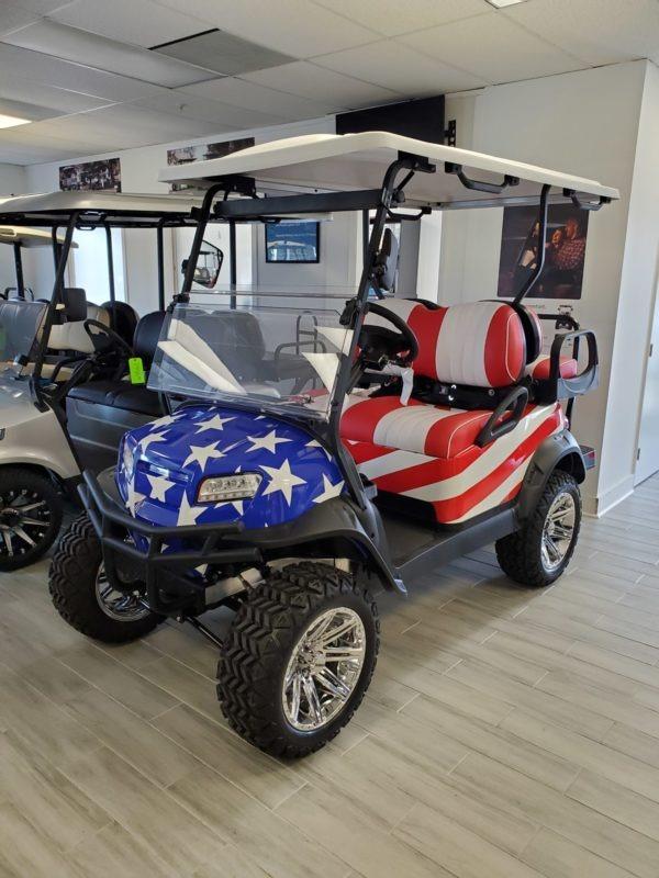 2021 Club Car Onward Lifted Custom Wrapped Golf Cart